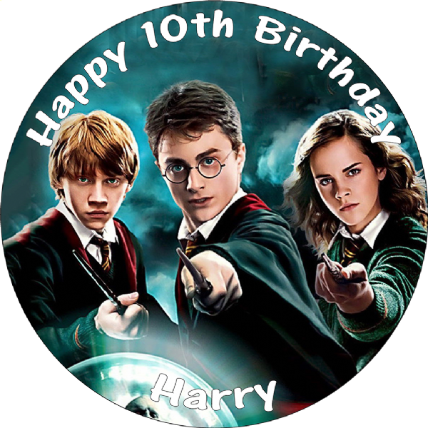 HARRY POTTER EDIBLE ROUND PRINTED BIRTHDAY CAKE TOPPER DECORATION